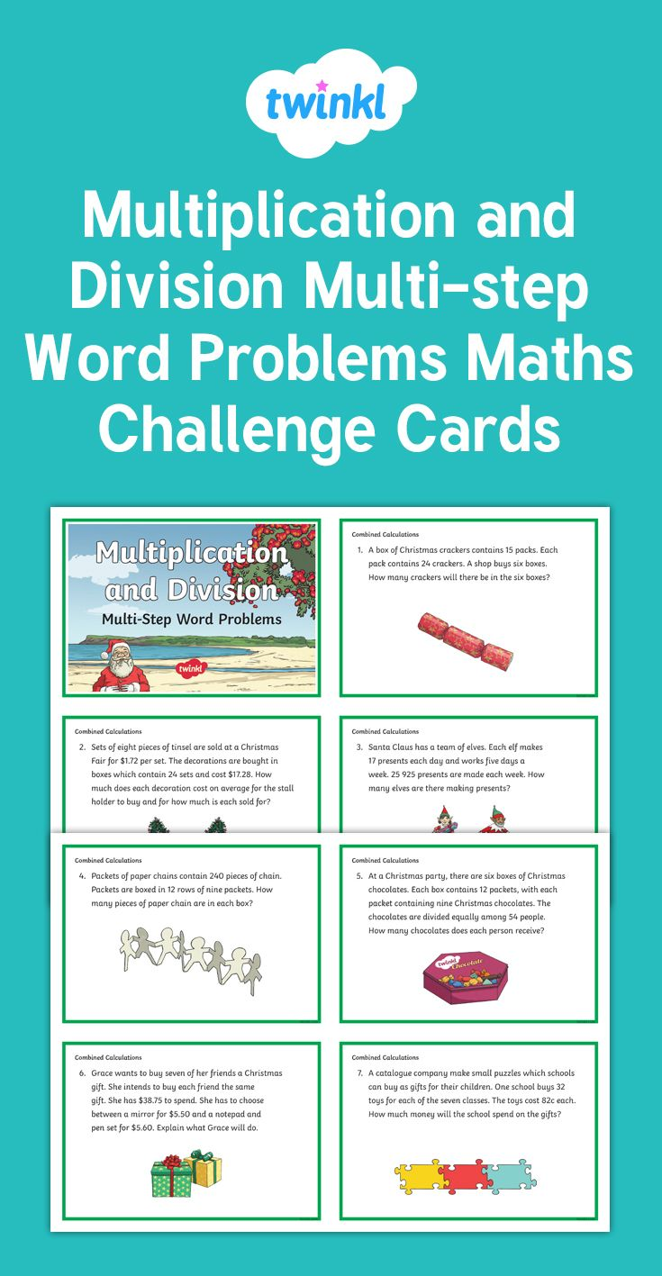 Multiplication and Division Challenge Cards | Maths/Numeracy (Year 5 ...