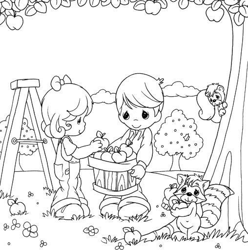 precious moments coloring pages autumn - photo#22