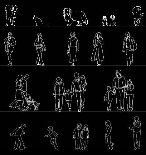 Download Free Autocad Human Figure Library Human Figure Autocad Autocad Drawing