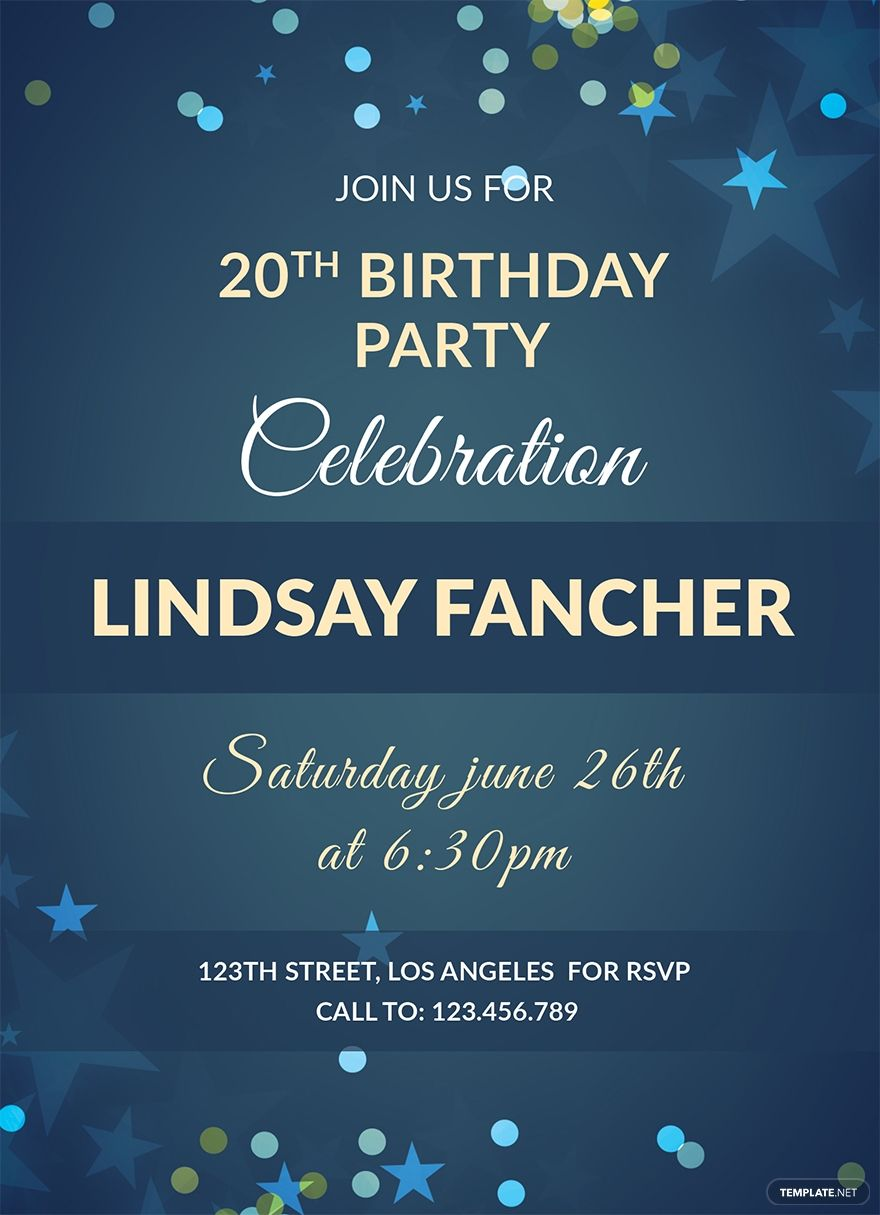 Free Simple Birthday Invitation Template in 5  Birthday