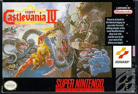 Super Castlevania IV box art #snes #konami   video games