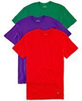 Polo Ralph Lauren Jersey Crew-Neck T-Shirt 3-Pack