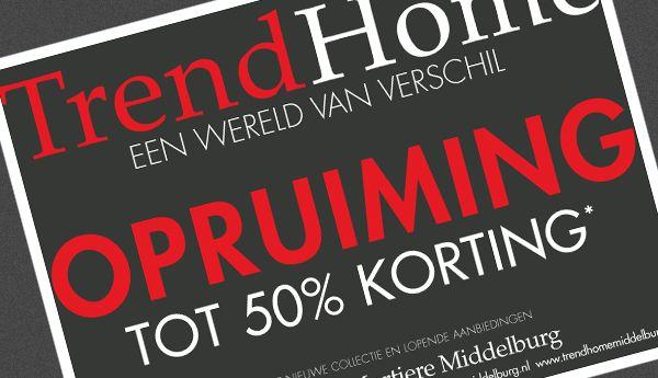 Advertentie TrendHome Mortiere Middelburg
