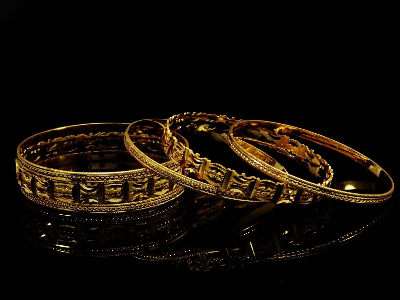 K goldplated pc kada bangles women designer bracelet traditional