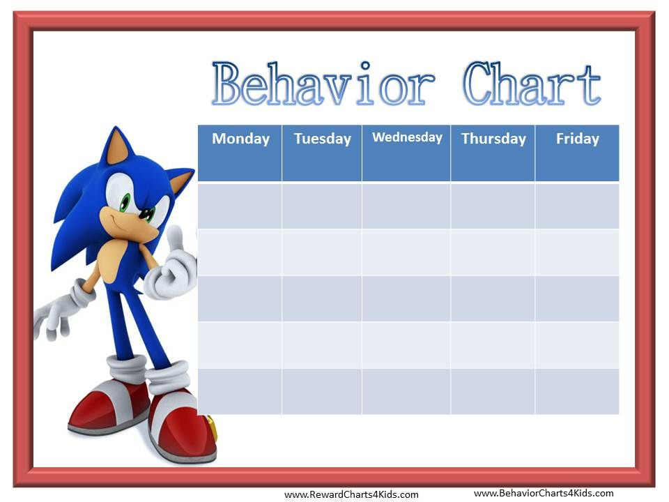Mickey Mouse Behavior charts for preschool Google Search – Kids Behavior Chart Template