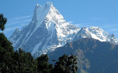 NEPAL - Mount Machhapuchhre is incomparable, thanks to its fish-tailed pinnacle. This features makes it one of the most renowned mountains in Nepal Himalayan range.