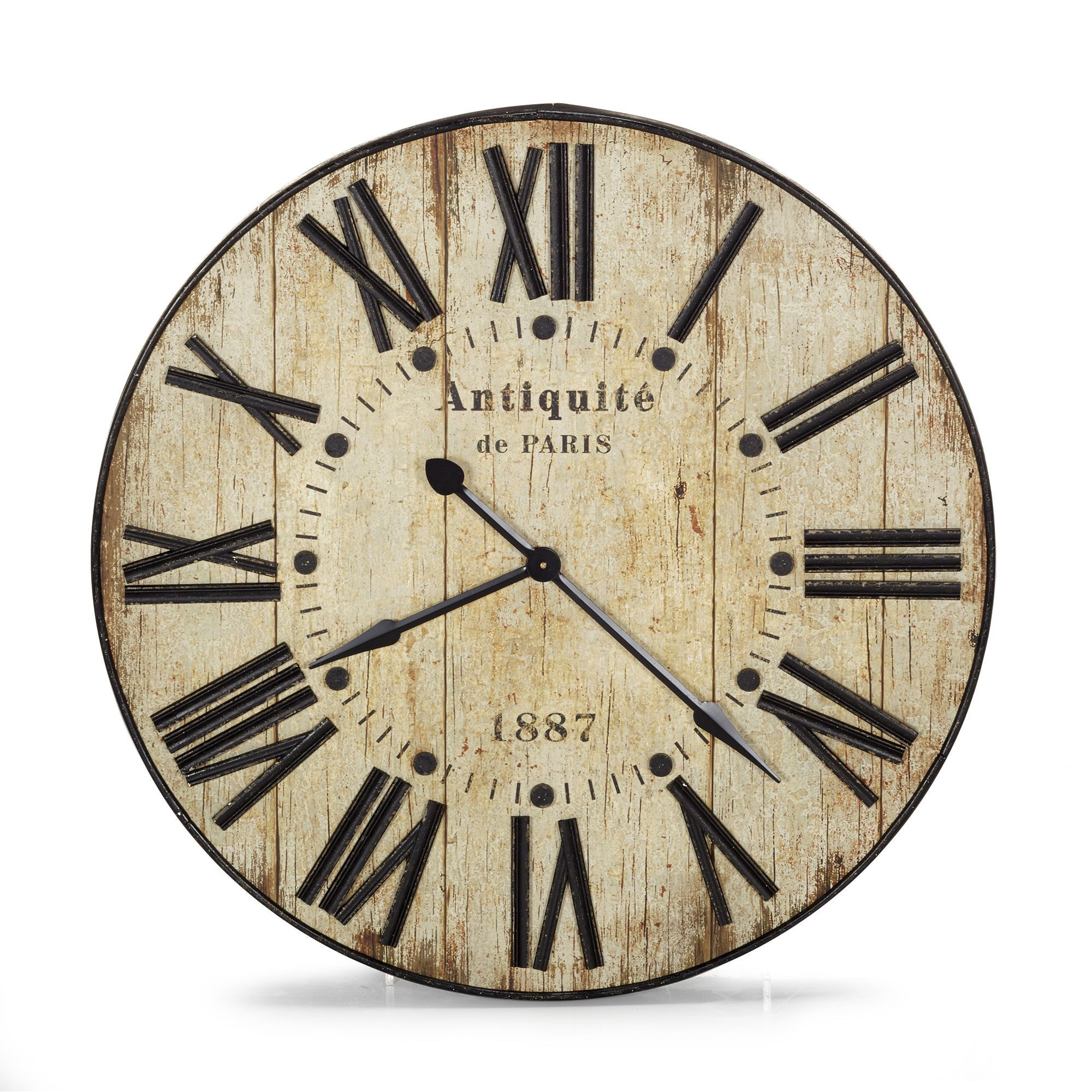 horloge murale 90cm de diam tre au style industriel antiquit les hor graphics by sandra. Black Bedroom Furniture Sets. Home Design Ideas