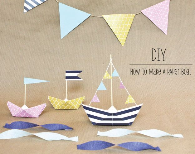 Diy How To Make A Paper Boat As Party Decor Nauticalpartydecor
