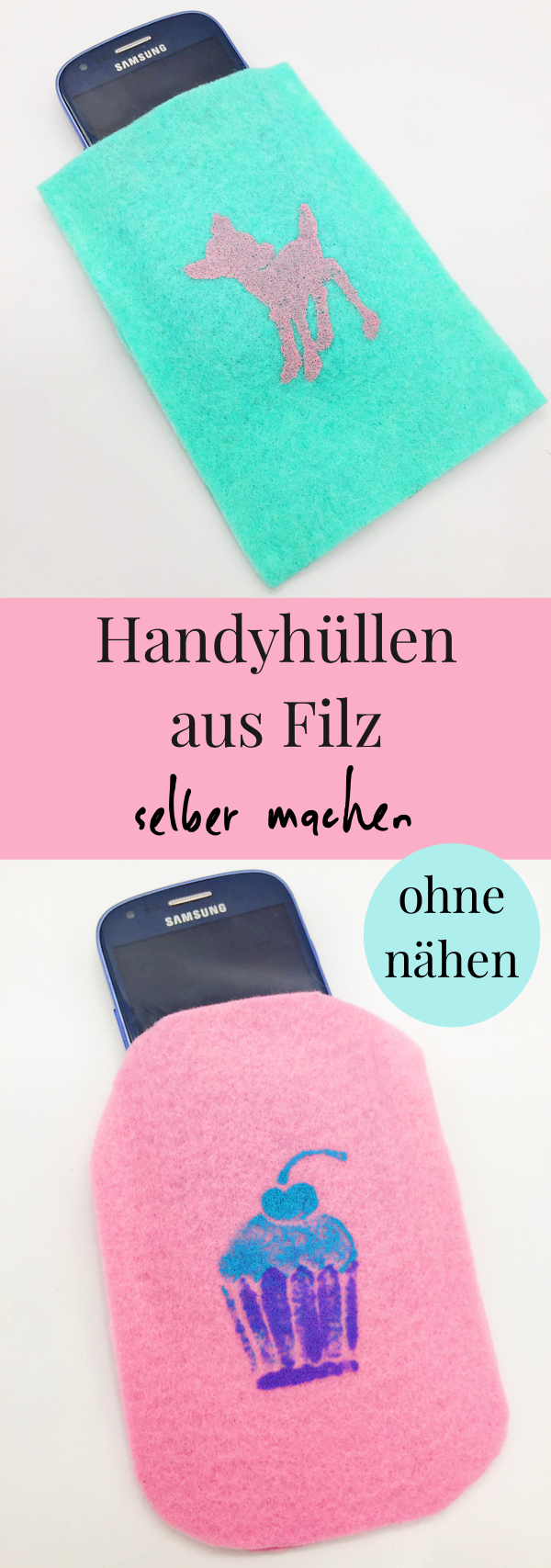 diy handyh llen selbst gestalten aus filz ohne n hen happy dings diy tipps pinterest. Black Bedroom Furniture Sets. Home Design Ideas