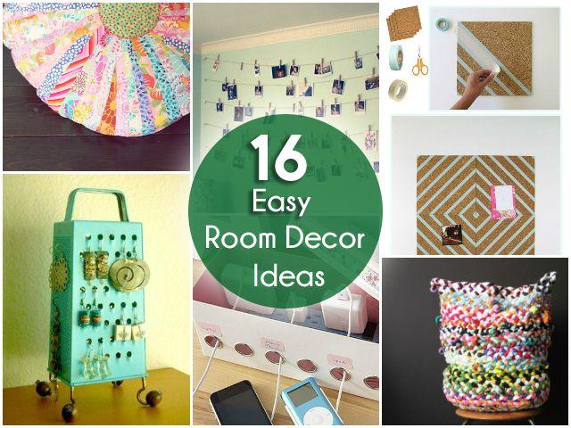16 Easy Diy Room Decor Ideas Home Decor Easy Diy Room Decor Diy Room Decor Room Diy