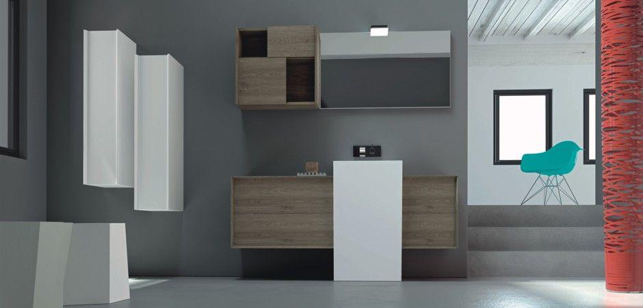 Badmöbel-Kombination MODULA 116 Bad Pinterest - badezimmermöbel aus holz