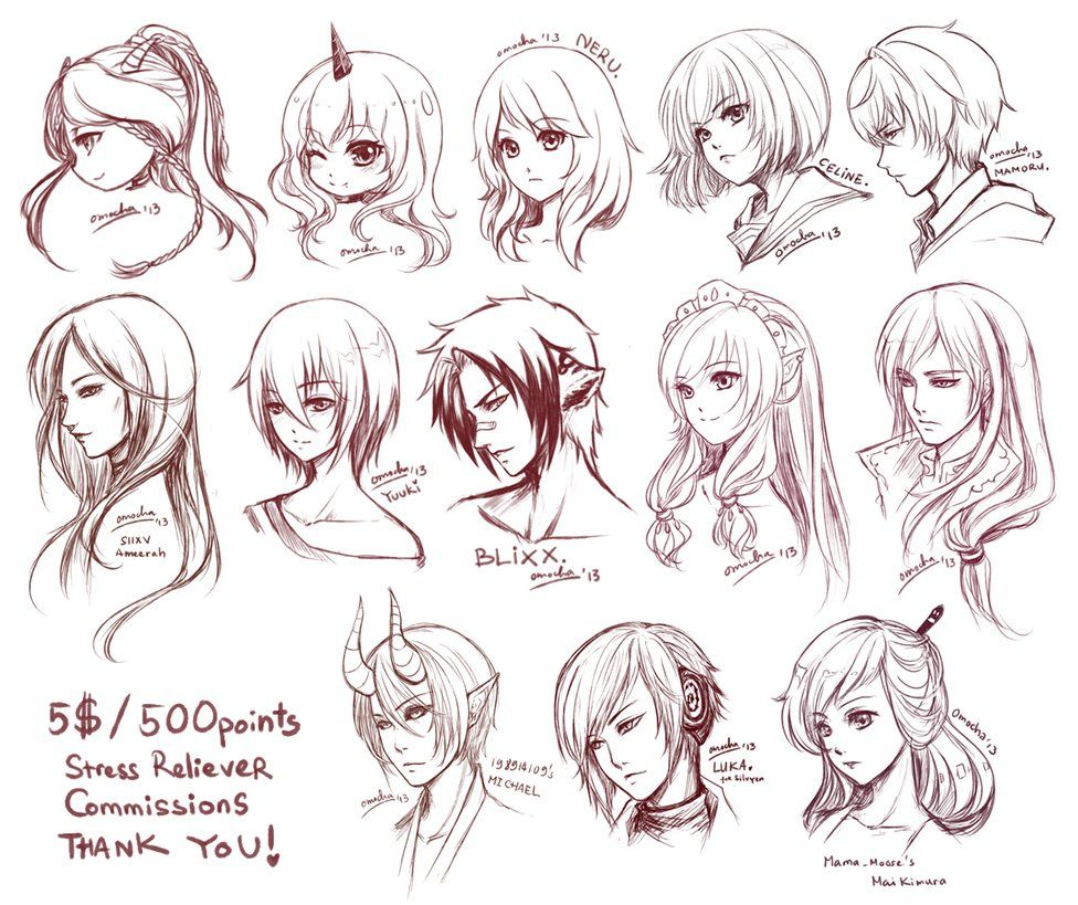 Characters Belong To Ichigo777 Lt 3 Another Batch Of Characters Of Hers That I Ve Drawn Nbsp And Here S The C How To Draw Anime Hair Hair Sketch Anime Hair