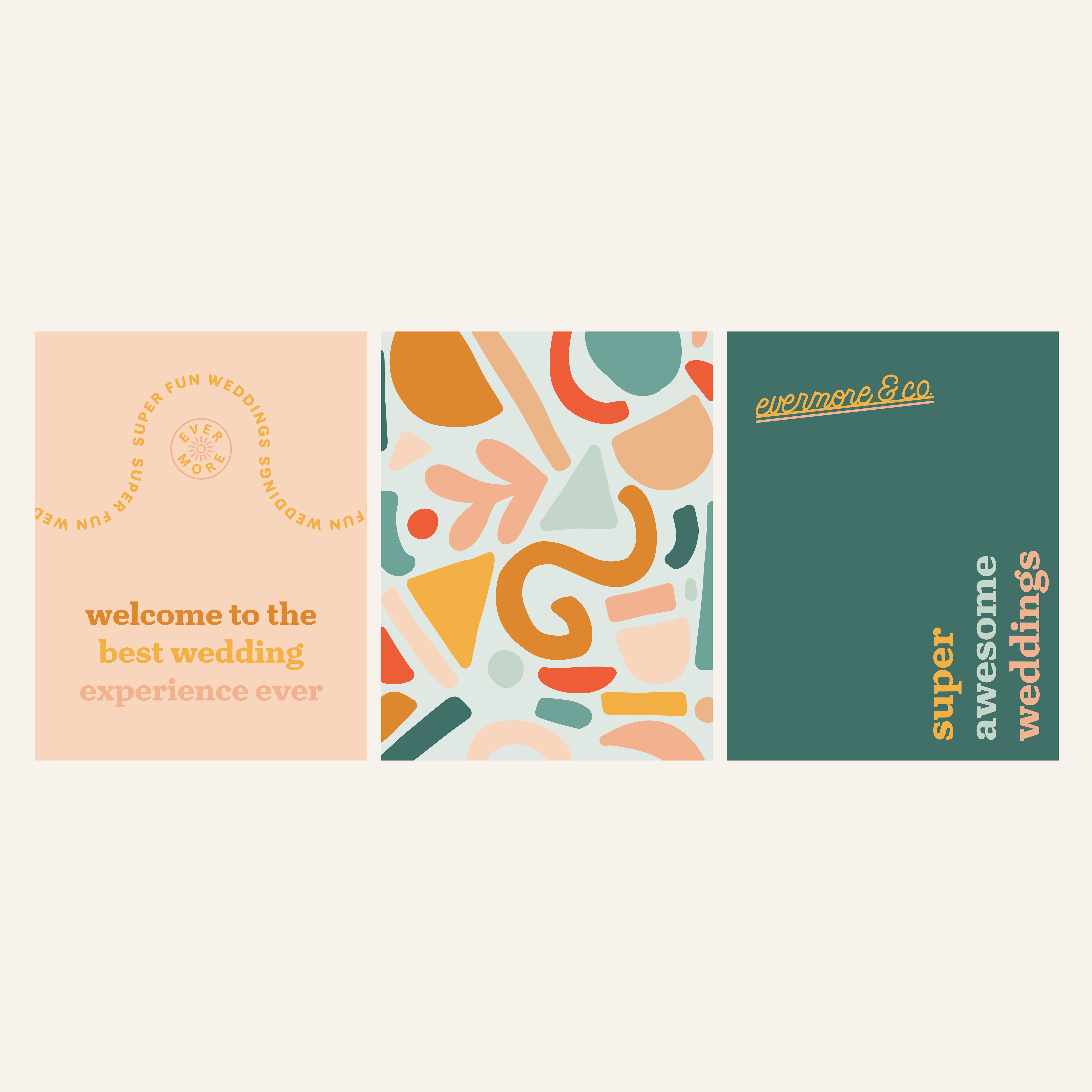 super fun wedding vendor branding design