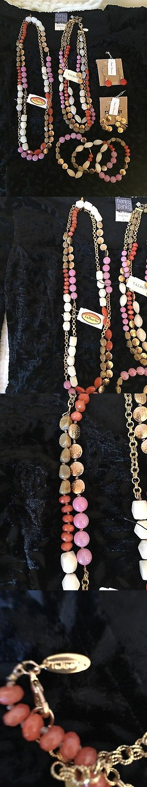 Jewelry Sets 50692: Talbots Semi-Precious Pink, White, Coral Necklace, Bracelet And Earring Set, Nwt BUY IT NOW ONLY: $34.99