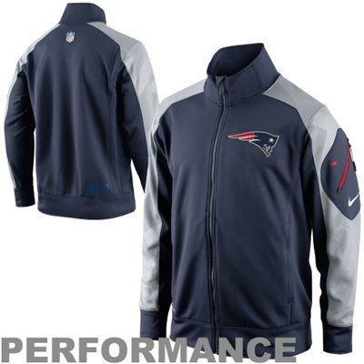 pretty nice 1448c 7f419 Nike New England Patriots Fly Speed Full Zip Performance ...