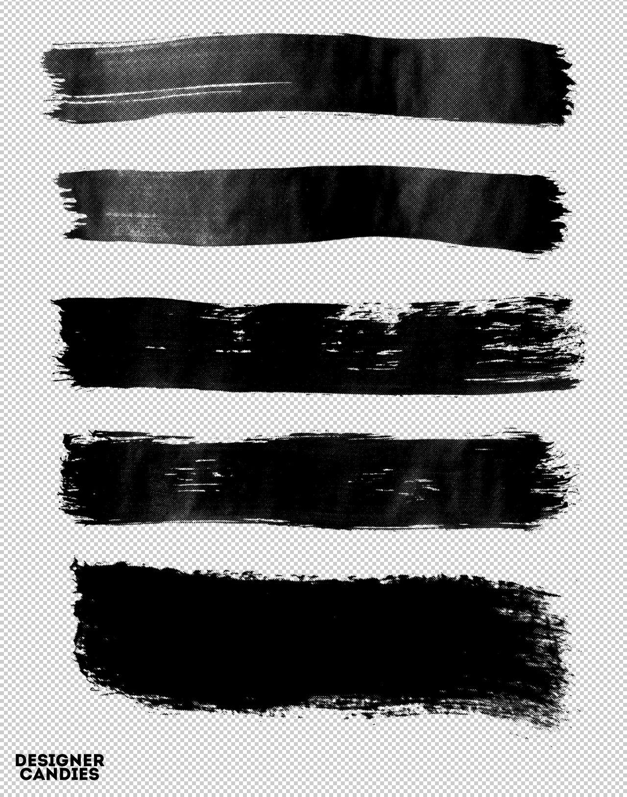 21 Distressed Halftone Brush Strokes Photoshop Imagens