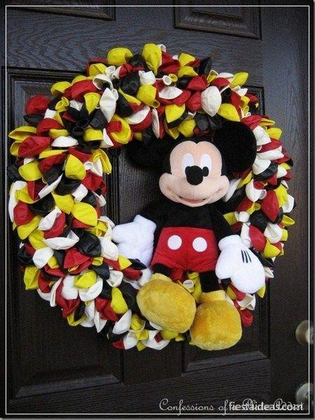 Decoracion fiesta mickey mouse fiestaideasclub 00028 for Adornos navidenos mickey mouse
