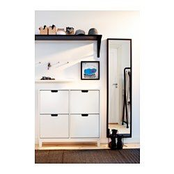Stall Shoe Cabinet With 4 Compartments White 37 3 4x35 3 8 Ikea Ikea Small Spaces Small Entryways Hallway Storage