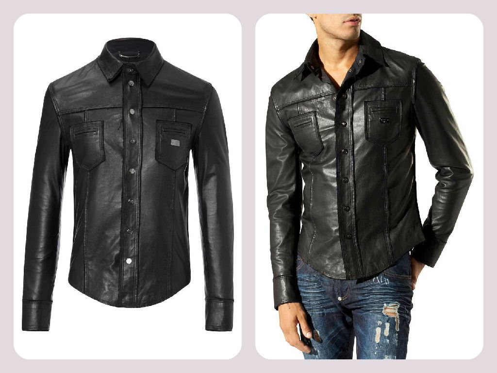 Mens jacket names -  Philippplein Have No Name Black Leather Shirt Http Www Boudifashion