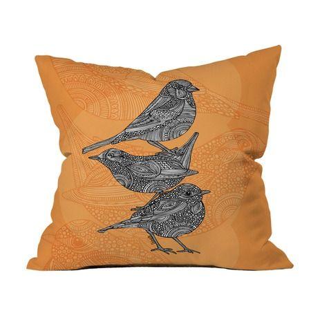 Three Little Birds Pillow