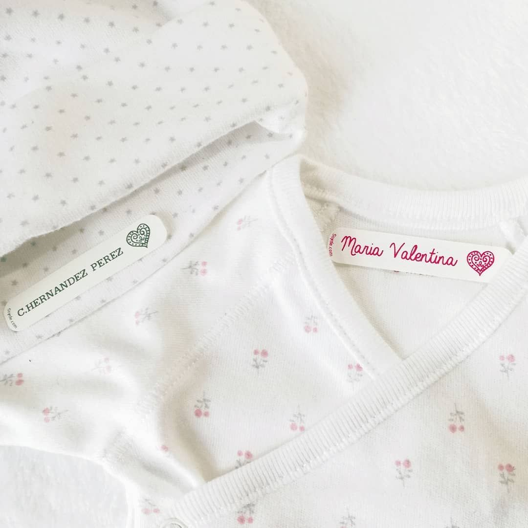 Etiquetas Personalizadas Para Marcar La Ropa De Bebe Para La