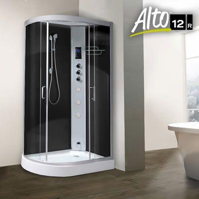 Steam Shower Alto 12 Right Hand Carbon Black 1200 X 800mm