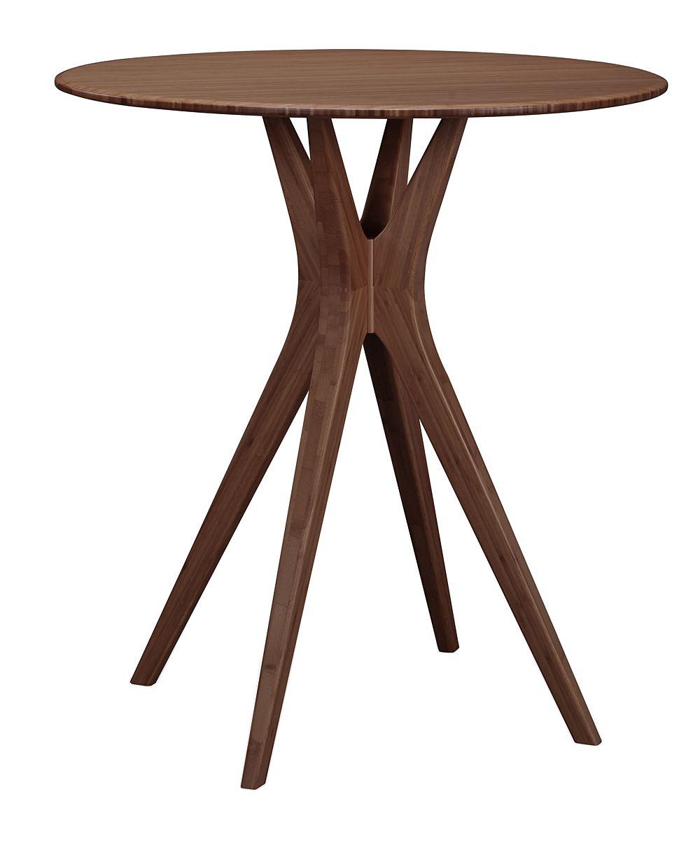 Black Walnut Finish Mimosa 36 Counter Height Table Dining Table In Kitchen Pub Table Counter Height Table