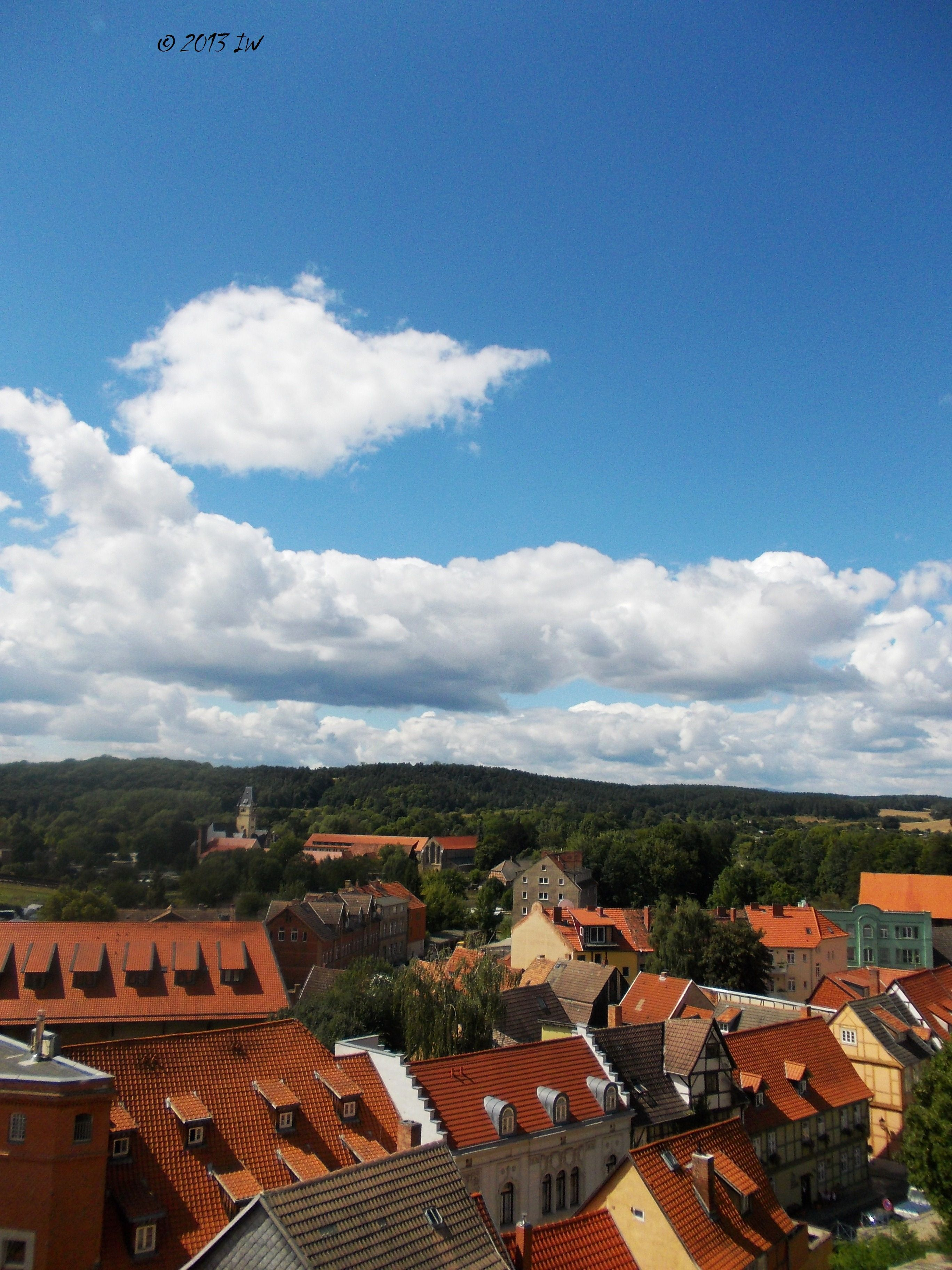 View of Quedlinburg from the top of the castle.