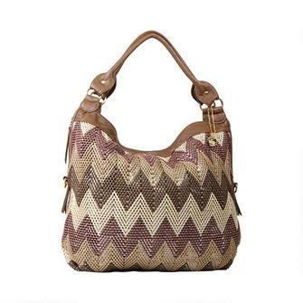 Buddha Bags Jcourtny In Brown The Beautiful And Lightweight Bag Features Various Shades Of With A Background Silver