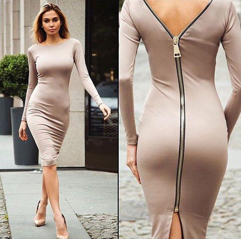 How long should a dress zipper be