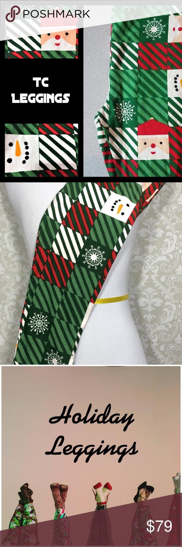 e9ac56fe9cc5f3 NEW Lularoe TC Leggings 🎅 Santa Snowman Snowflake ** SAME DAY SHIPPING &  HANDLING*