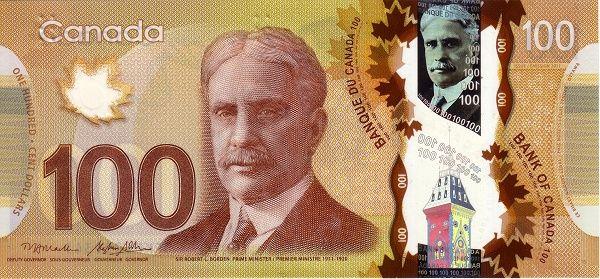 Mata Kanada Cad 100 Dollars Nama Canadian Dollar Kod Iso 4217 Simbol C