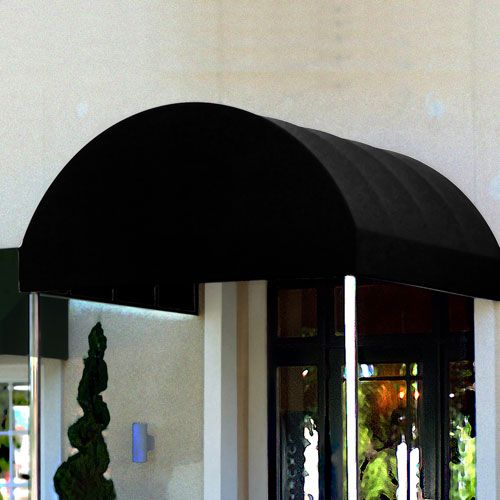 Awnings, Canopies & Shelters | Awnings - Entrance Canopies | Awntech BALT16-K, Entrance Canopy Black 6'W x 16'D x 8'H | B1972306 - GlobalIndustrial.com
