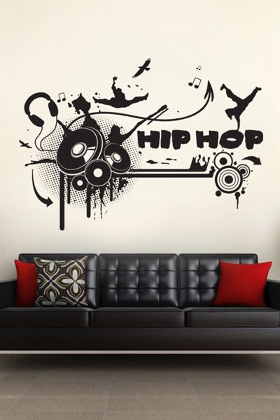 Vinyl Record Record Player Teenager Bedroom DJ Record Deck Wall Decal Wall Art Sticker Mixing Desk Music Lover Vinyl Wall Decal