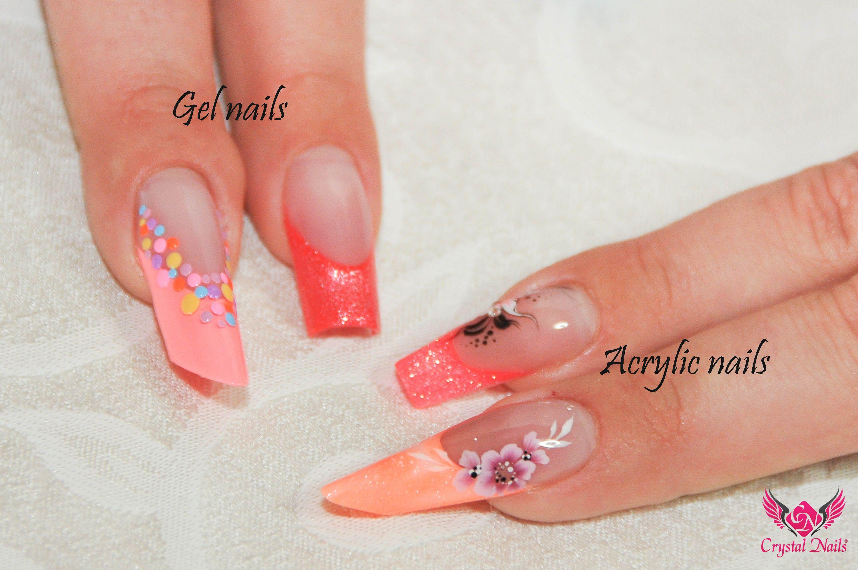 gel nails vs. #acrylic #nails | Variations on a theme | Pinterest