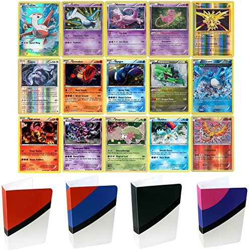 15 Legendary Pokemon Cards With TopDeck Mini Binder Assor