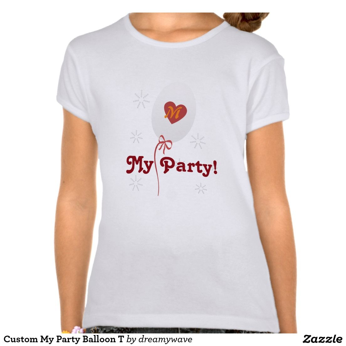 Custom My Party Balloon T T-Shirt | T shirts, Shirts and Parties