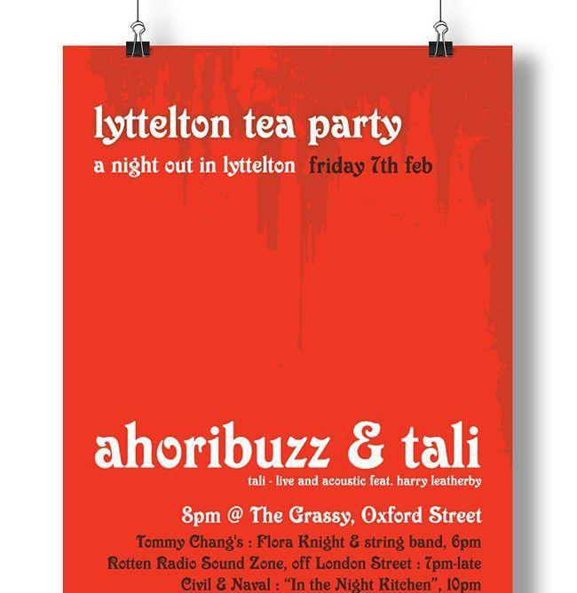 Poster design for music event in Lyttelton #graphicdesign #designinspiration #design #posterdesign