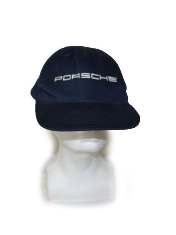 timeless design 9b841 a123a Vintage Porsche Hat Mens Trucker hat Blue Cap by DieVoltVintage