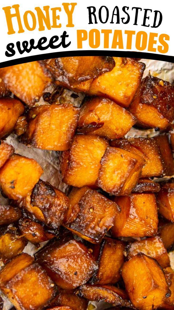 Easy Honey Roasted Sweet Potatoes