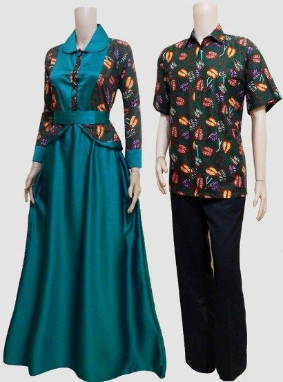 Model Baju Gamis Batik Sarimbit Model Gamis In 2019 Fashion