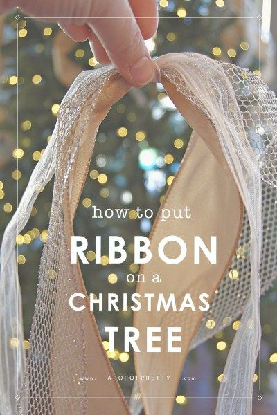How to Put Ribbon on a Christmas Tree (Tutorial) - A Pop of Pretty Canadian Home Decor Blog