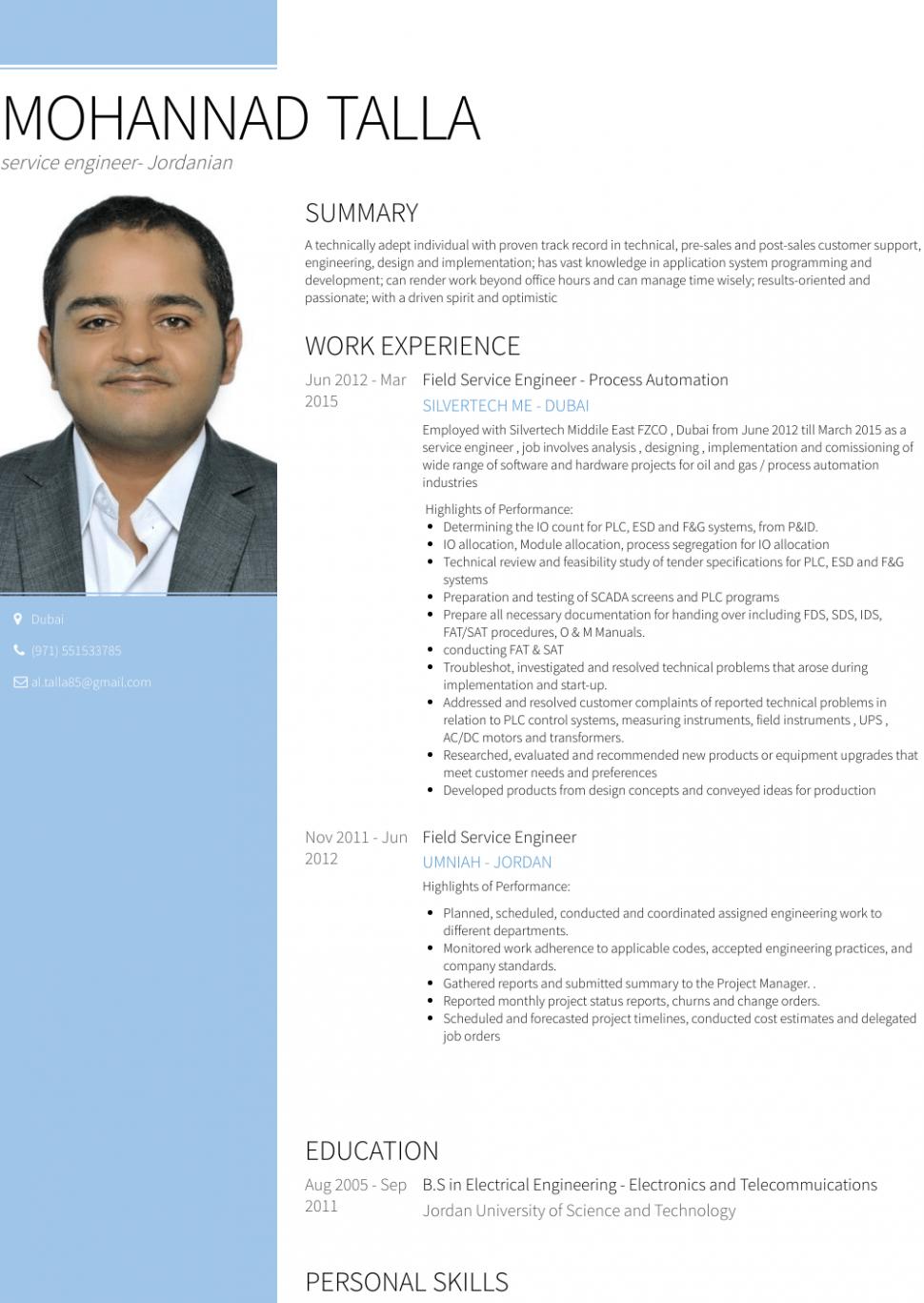 13 Service Engineer Resume