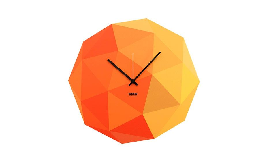 MONOQI | Timeshape Clock - Yellow