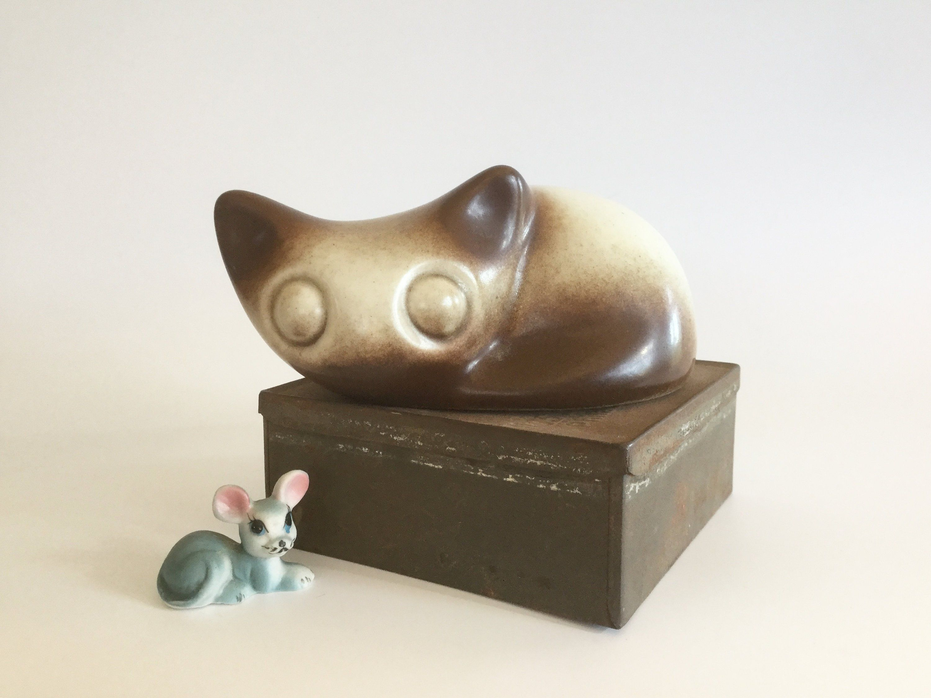 Howard Pierce Pottery Kitten Ceramic Cat Vintage Ceramics Midcentury Pottery Siamese Cat Abstract Vi Vintage Cat Figurines Vintage House Vintage Ceramic