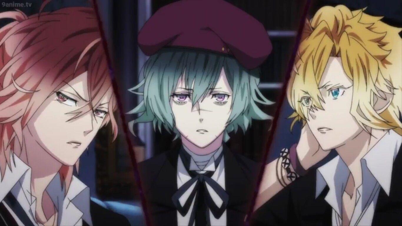 Yuma, Azusa and Kou Mukami Diabolik Lovers season 2