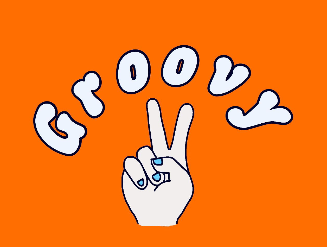 Groovy Quote Words Typography Doodle Aesthetic Hippie