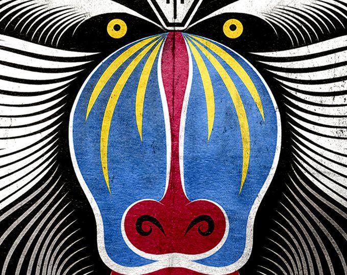 Tribal Festival Burning Man Goa Clothing Psychedelic African Wildlife Art Deco Tattoo Screen Print Safari Animal Monkey Zoo Psy Shirt 7Q8yw
