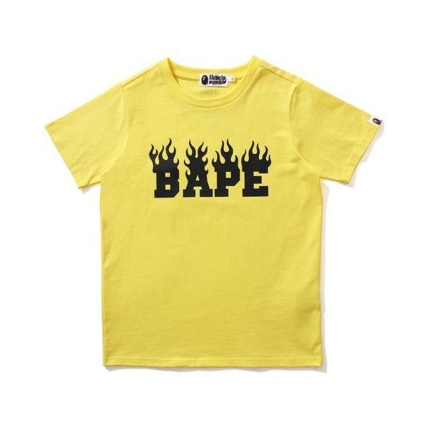 95aa85ac NEON COLOR BAPE FLAME TEE LADIES ($115) ❤ liked on Polyvore featuring tops,