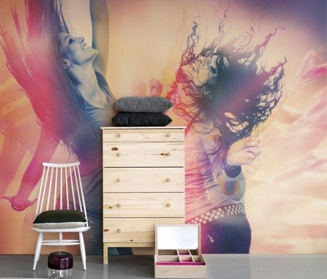 Kinderzimmer wand ideen mädchen  jugendzimmer ideen wand fototapete mädchen tanzen | Ideen rund ums ...